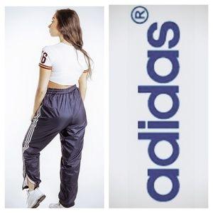 Adidas Vintage Dark Blue Velcro/Zip Track Pants